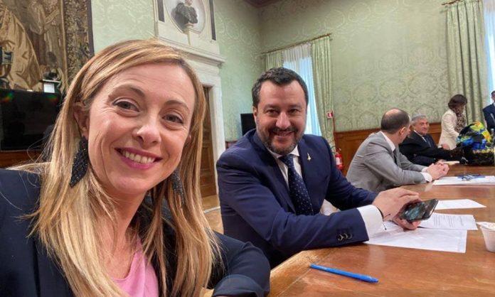 Meloni-Salvini-Coronavirus