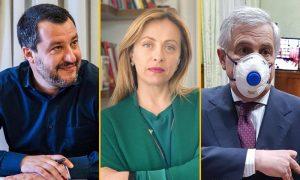 Salvini, Meloni, Tajani - Governo Coronavirus