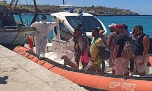 Lampedusa migranti con barboncino