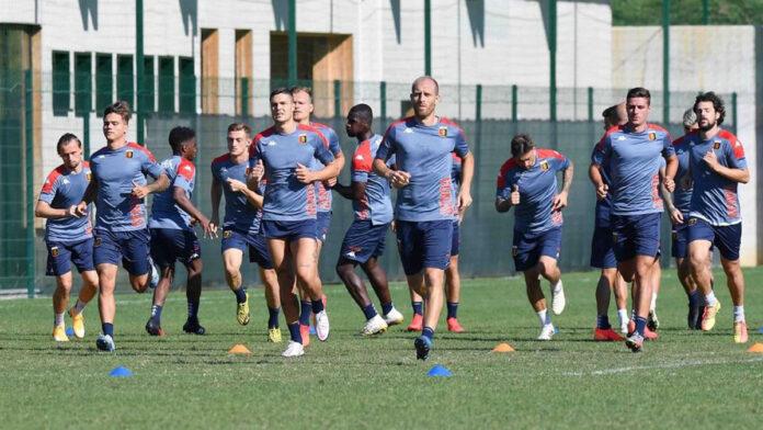 Un allenamento del Genoa