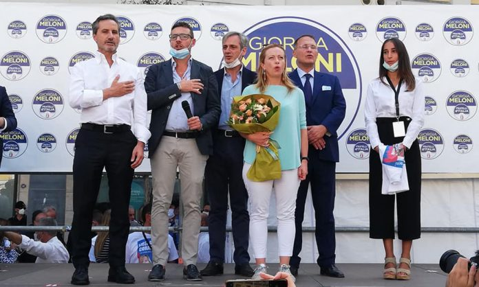 Giorgia Meloni a Cava de' Tirreni