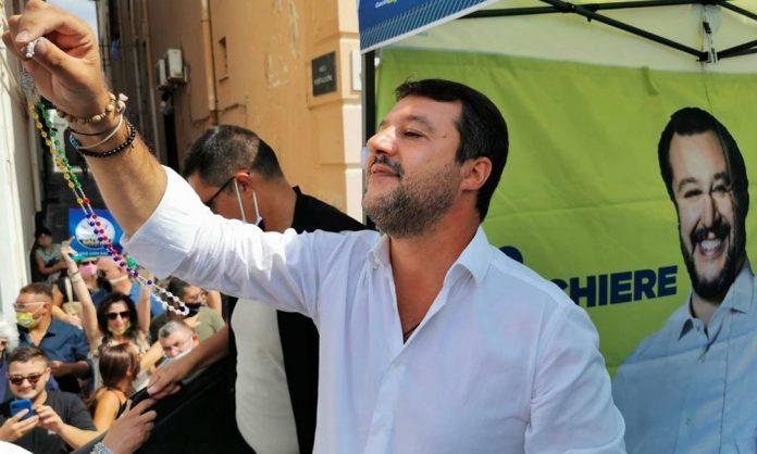 Matteo Salvini a Torre del Greco