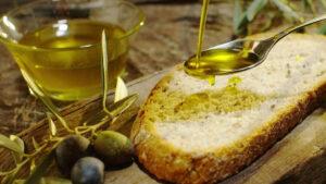 bruschetta con olio d'oliva extra vergine
