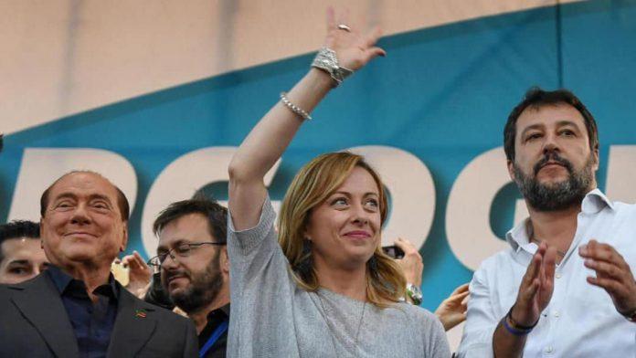Silvio Berluscon, Giorgia Meloni e Matteo Salvini