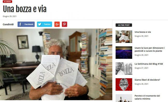 Il comico e fondatore del M5S Beppe Grillo