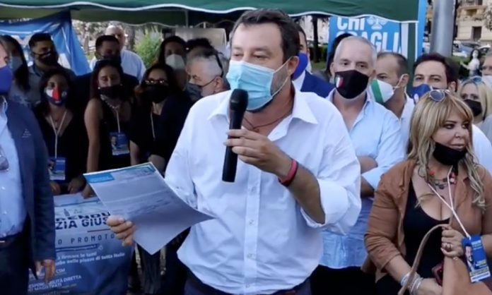 Matteo Salvini a Salerno