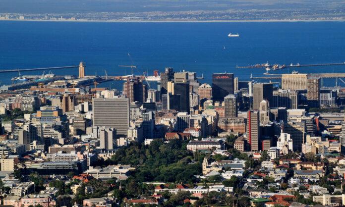 Una veduta di Città del Capo