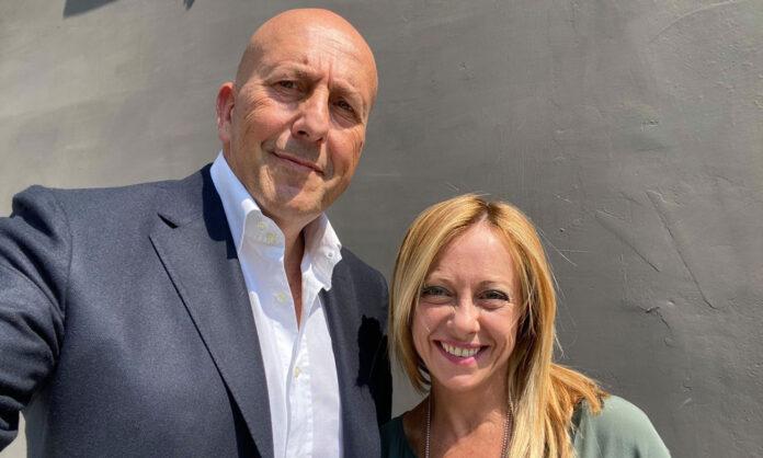 Sergio Rastrelli e Giorgia Meloni